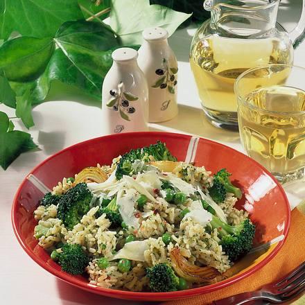 Broccoli-Reisteller und Parmesan (Diabetiker) Rezept