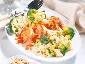 Broccoli-Risotto mit Schweinemedaillons (Diabetiker) Rezept