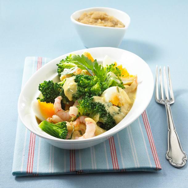 Brokkoli-Eier-Ragout mit Krabben Rezept