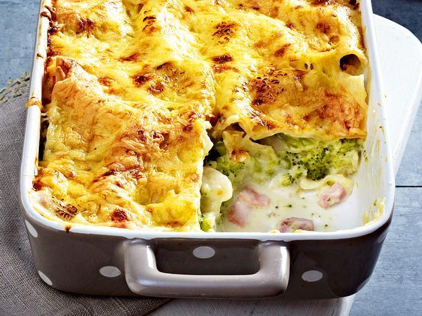 Brokkoli-Lasagne mit Kochschinken Rezept