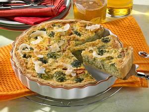 Brokkoli-Quiche mit Schmand-Kokosguss Rezept