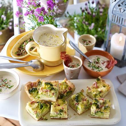 Brokkoli-Speckkuchen vom Blech Rezept