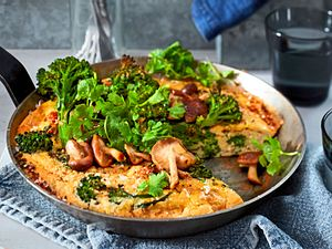 Brokkolini-Omelett mit Protein-Power Rezept