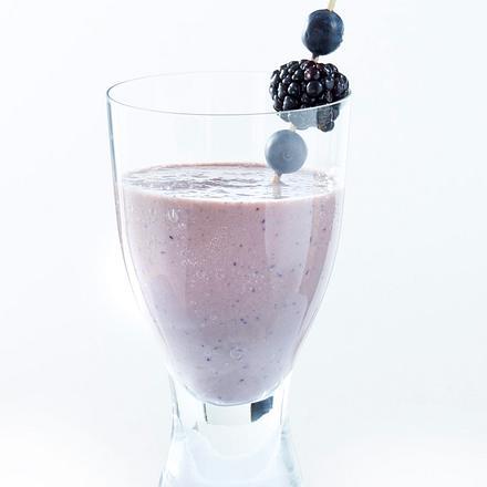Brombeer-Heidelbeer-Vanilleeis-Shake Rezept