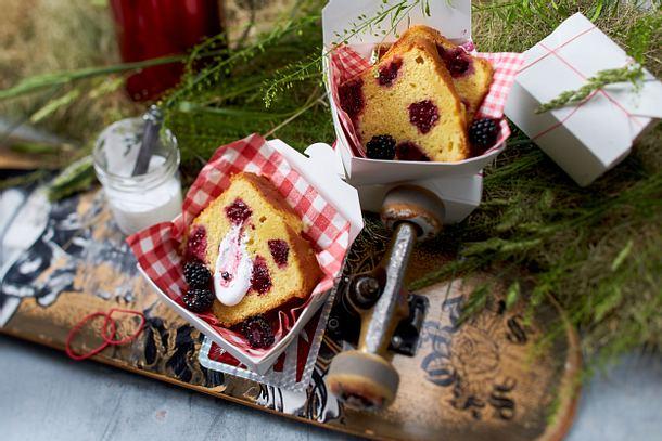 Brombeer-Kastenkuchen (Mitbringkuchen Picknick) Rezept