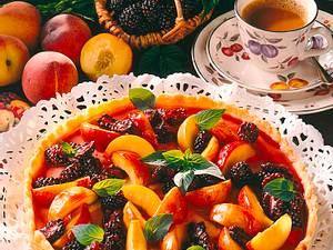 Brombeer-Pfirsiche-Tarte (Diabetiker) Rezept