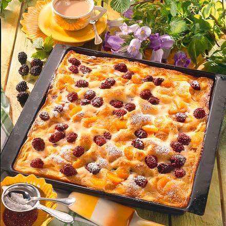 Brombeer-Schmand-Kuchen vom Blech Rezept