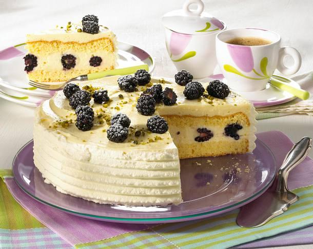 Brombeer-Vanille-Torte Rezept