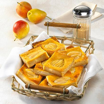 Brot-Birnenkuchen mit Marzipan-Guss Rezept