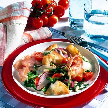 Brot-Mortadella-Salat Rezept