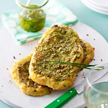 Brotfladen mit Schnittlauch-Pesto Rezept