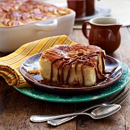 Brotpudding mit Äpfeln Rezept