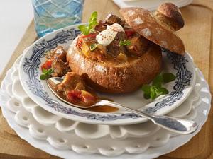 Brotterrinette mit Biergulasch Rezept