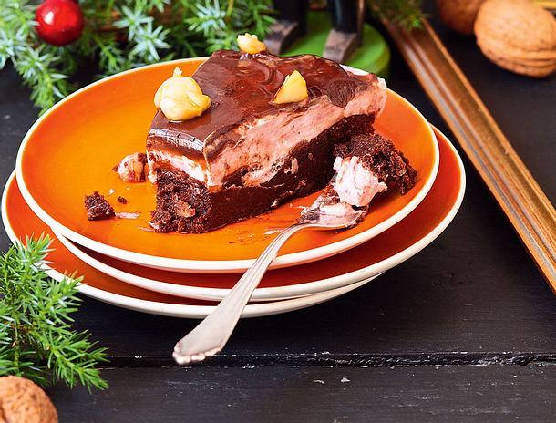 Brownie-Macadamia-Tarte Rezept