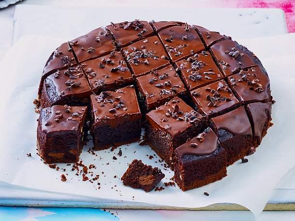 Brownie mit Doppeldecker-Keksen Rezept