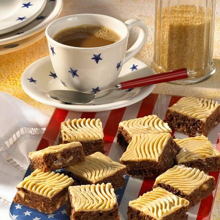 Brownies mit weißer Schokosahne Rezept