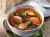 Brühe mit Hähnchen und Broccoli Rezept