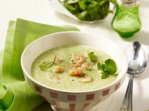 Brunnenkresse-Suppe mit Krabben Rezept