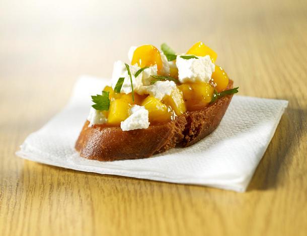 Bruschetta 4x anders: Mango-Ziegenkäse Rezept