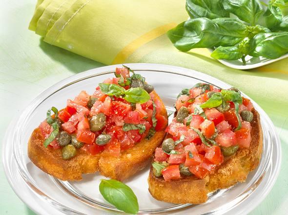 Bruschetta mit Salat Rezept