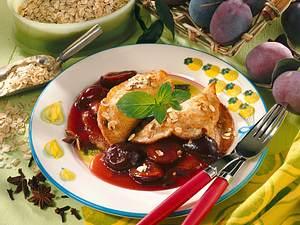 Buchweizen-Pfannkuchen mit Pflaumenkompott Rezept