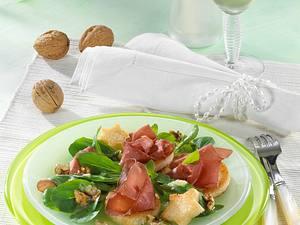 Bündner Fleisch mit Kartoffel-Nuß-Vinaigrette Rezept
