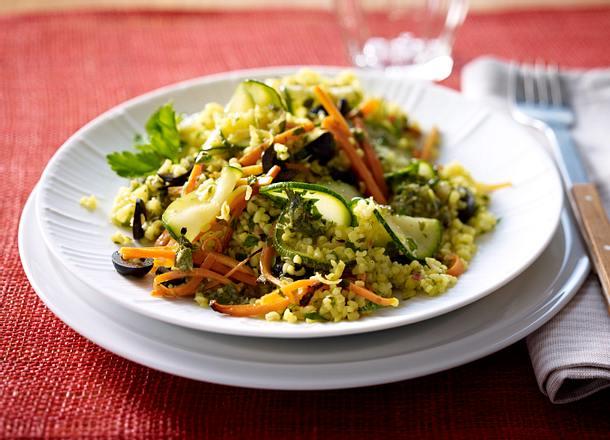 Bulgur-Möhren-Salat mit Zitronen-Vinaigrette Rezept
