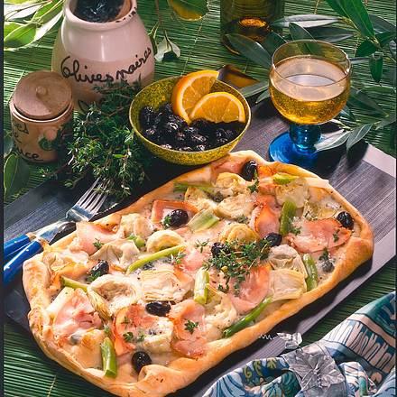 Bunte Artischockenherzen-Pizza Rezept