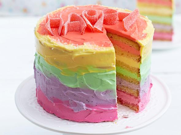 Bunte Be-Happy-Torte Rezept