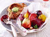 Bunte-Bete-Päckchen zu Koteletts Rezept