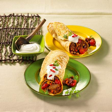 Bunte Burritos Rezept