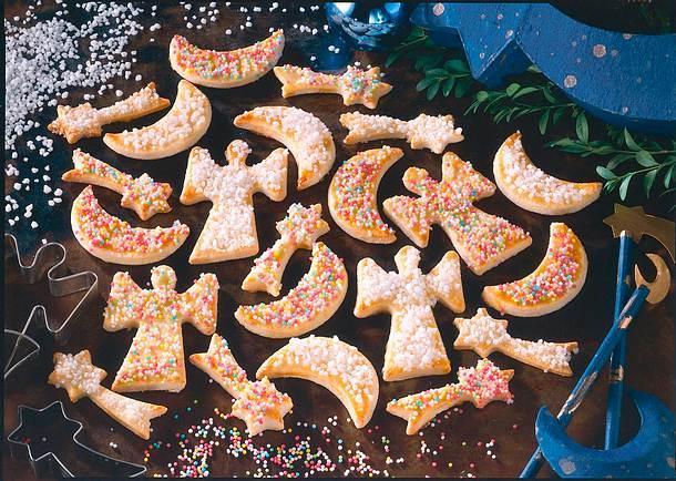 Bunte einfache Kekse Rezept