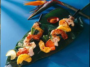 Bunte Fischspieße Rezept