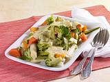 Bunte Gemüseplatte mit Sauce Bearnaise Rezept