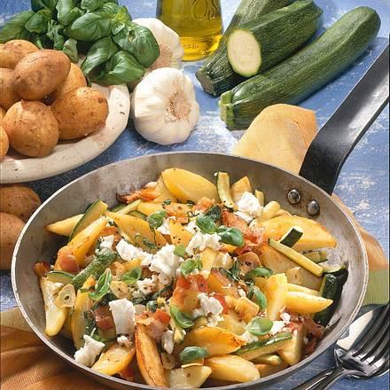 Bunte Kartoffelpfanne Rezept