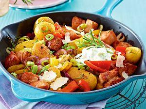 Bunte Kartoffelpfanne mit Kasseler Rezept