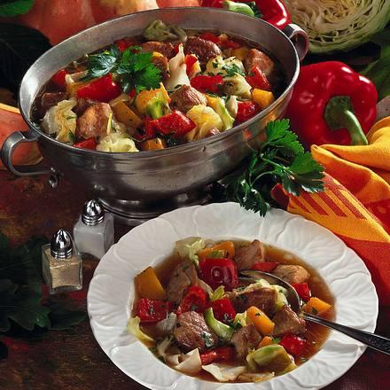Bunte Kürbis-Kohl-Suppe Rezept