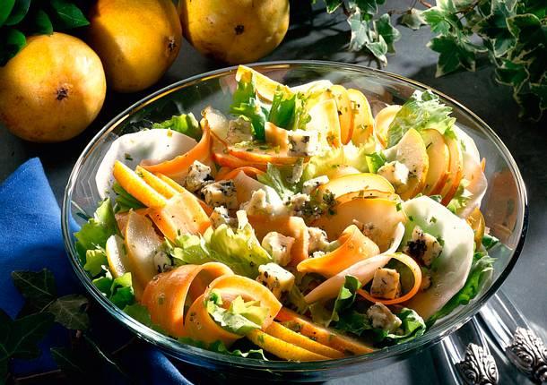 Bunter Birnensalat mit Roquefort-Käse Rezept