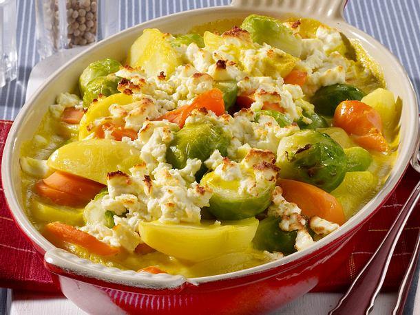 Bunter Gemüse-Auflauf Rezept