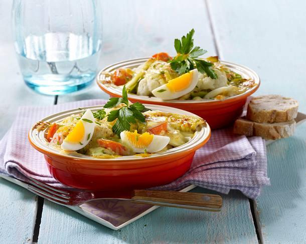 Bunter Gemüse-Ei-Auflauf Rezept