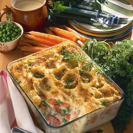 Bunter Kartoffelpüree-Auflauf Rezept