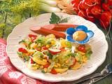 Bunter Kartoffelsalat mit Würstchen Rezept