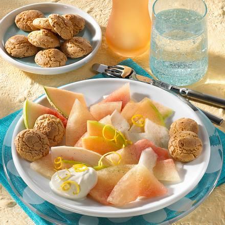 Bunter Melonen-Salat Rezept