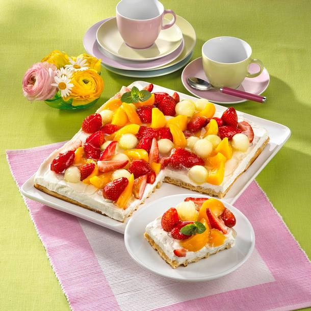 Bunter Obstkuchen Rezept