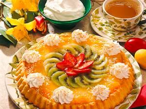 Bunter Obstkuchen mit Kokoscreme Rezept