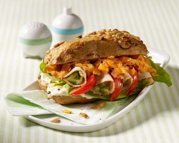 Bunter Putenfleisch-Burger Rezept
