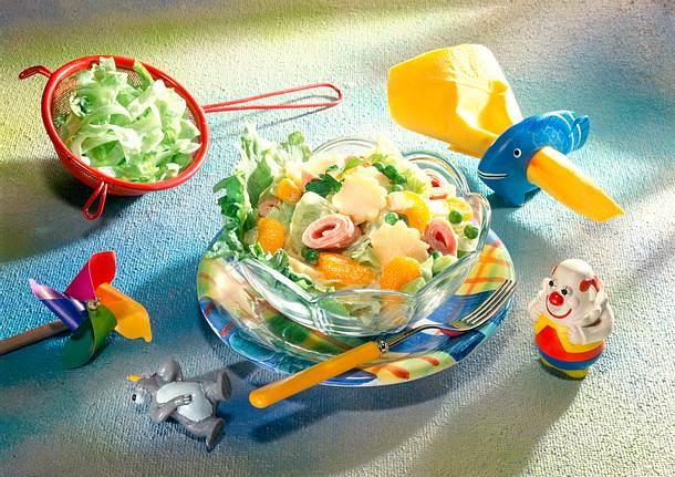 Bunter Salat mit Currydressing Rezept