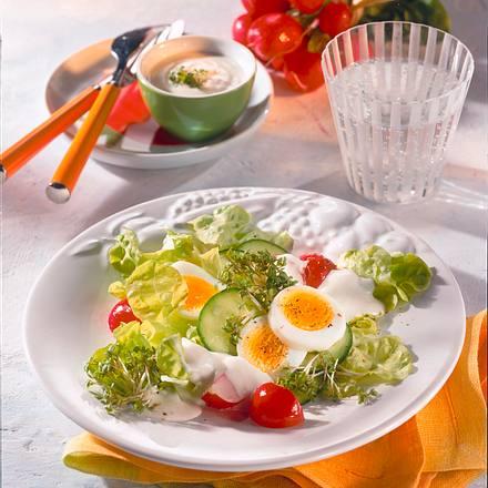 Bunter Salat mit Joghurtsoße Rezept