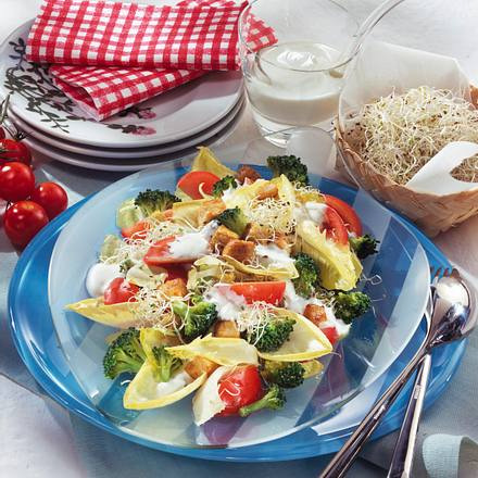 Bunter Salatteller (für 1 Person) Rezept
