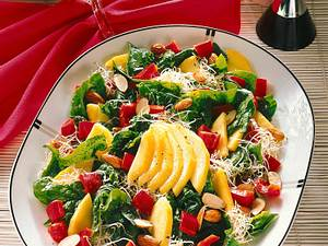 Bunter Spinat-Salat Rezept